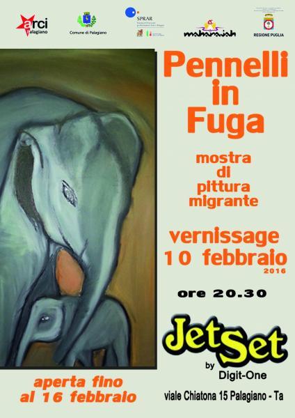 PENNELLI IN FUGA - Collettiva di pittura migrante
