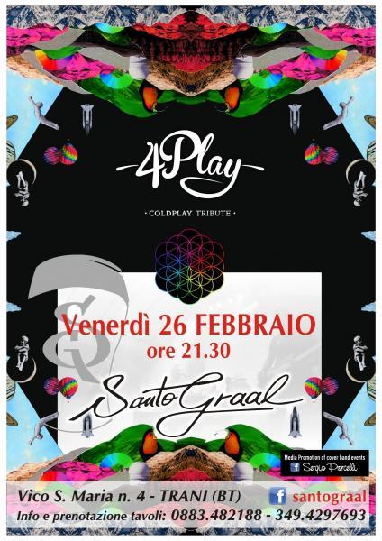 4Play Coldplay Tribute Band al Santo Graal di Trani!