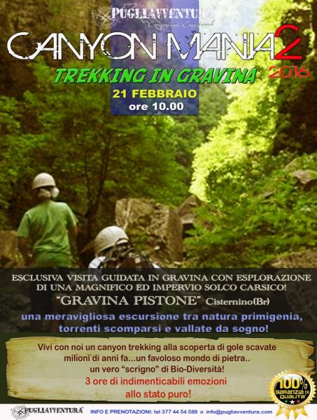 CANYON MANIA 2 - Trekking a Gravina Pistone