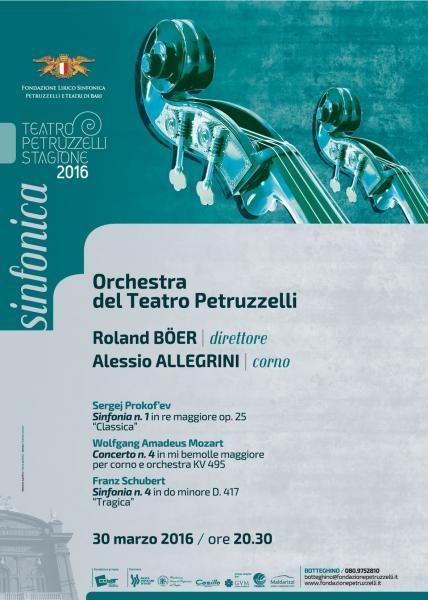 Concerto Sinfonico - Roland Böer dirige l'Orchestra del Teatro, solista Alessio Allegrini (corno).