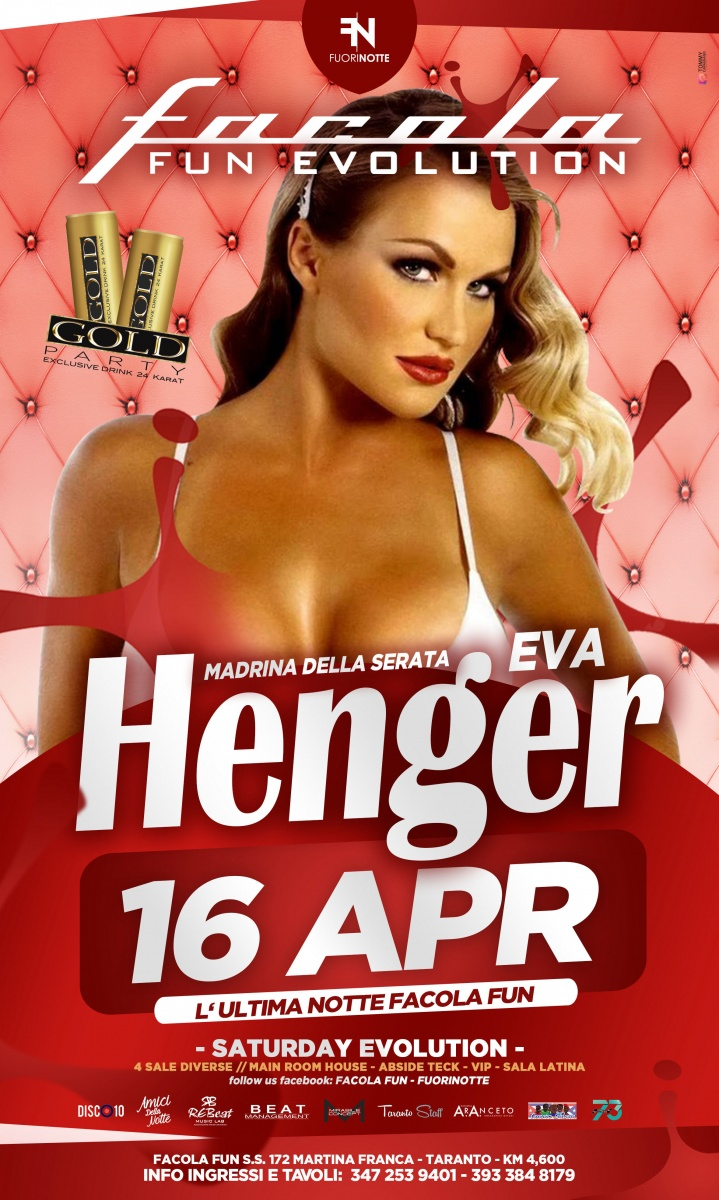 L 39 ultima notte al facola fun ospite eva henger martina franca il tacco di bacco - Eva henger a letto ...