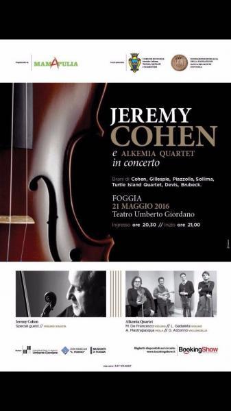 Torna a Foggia il Violinista Jeremy Cohen
