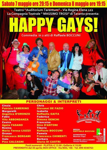 """Commedia Comica in 2 Atti dal Titolo """"Happy Gays"""""""