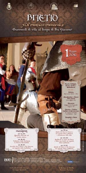 """XVII Mercato Medioevale """"Frammenti di vita al tempo di Fra Giacomo"""" - BITETTO 01/05/2016"""