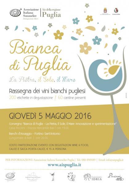 Bianca di Puglia 2016 - Rassegna dei vini bianchi pugliesi