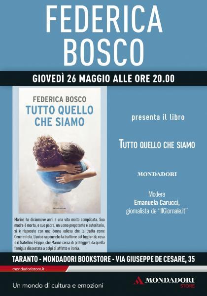 Incontro con l'autore Federica Bosco