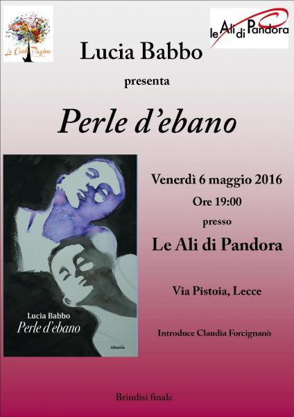 """Lucia Babbo presenta la sua silloge poetica """"Perle d'ebano"""""""