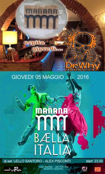Double zone: inside - Dr. Why / outside - Baella Italia, dj set con Lello Santoro & Alex Pisconti