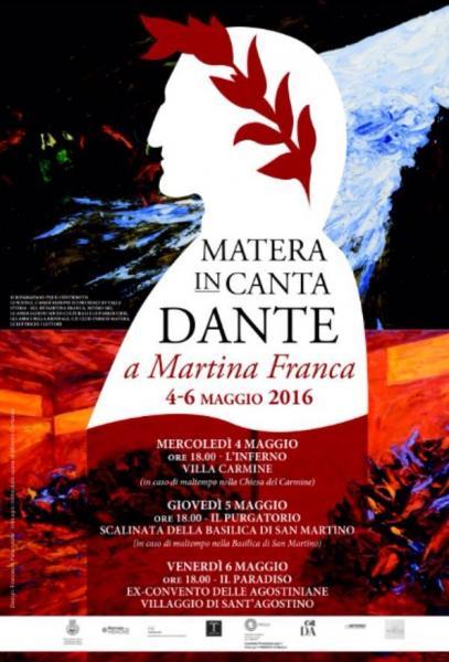 """""""Matera InCanta Dante"""" a Martina Franca, da domani, durante """"la Biennale delle Memorie"""""""