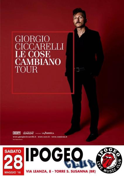 Ipogeo live Music: Giorgio Ciccarelli le Cose Cambiano Tour