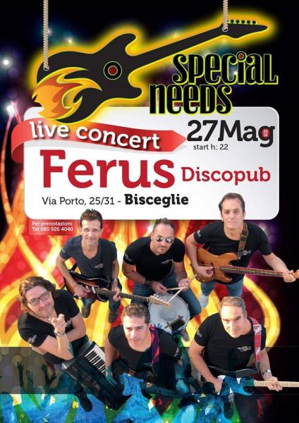 "SPECIAL ROCK COVERS live con gli "" SPECIAL NEEDS """
