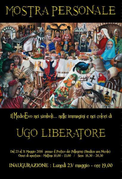 """Mostra personale """"Il Medioevo nei simboli…nelle immagini e nei colori di Ugo Liberatore"""""""