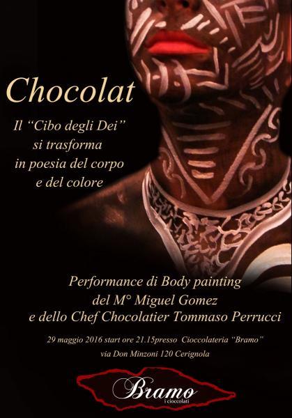"""""""Chocolat"""" il cibo degli Dei si trasforma in poesia del corpo e del colore"""