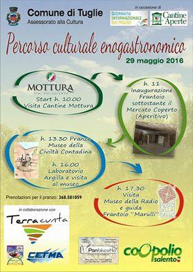 agriCULTURA: Tuglie, tra cantine e musei alla scoperta del territorio.