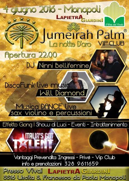 Jumeirah Palm Vip Club La Notte d'Oro