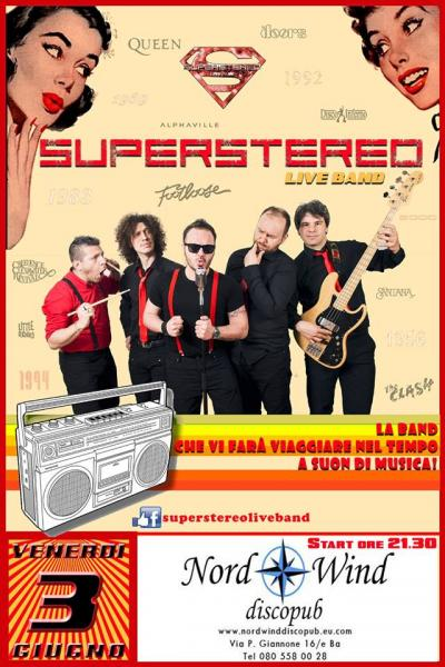 Superstereo Live Band live concert al Nordwind discopub