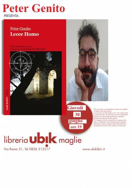Peter Genito alla Libreria Ubik di Maglie