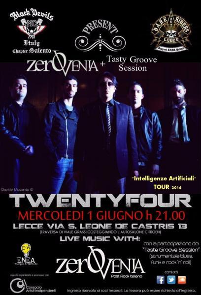 1 giugno Rock Night ZeroVenia + Tasty Groove Session a Lecce