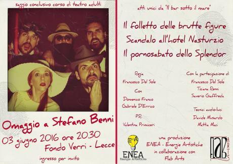 ENEA-Energie Artistiche omaggia Stefano Benni al Fondo Verri