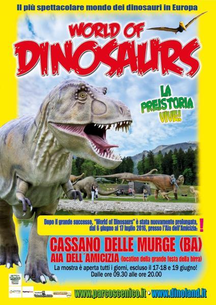 """""""World of Dinosaurs"""", mostra prolungata fino al 17 luglio"""