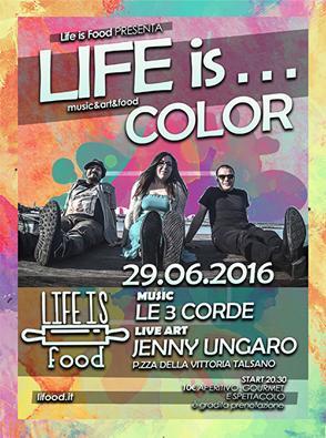 LE3CORDE live al Life is Color: aperitivo a ritmo di musica e arte a Talsano!