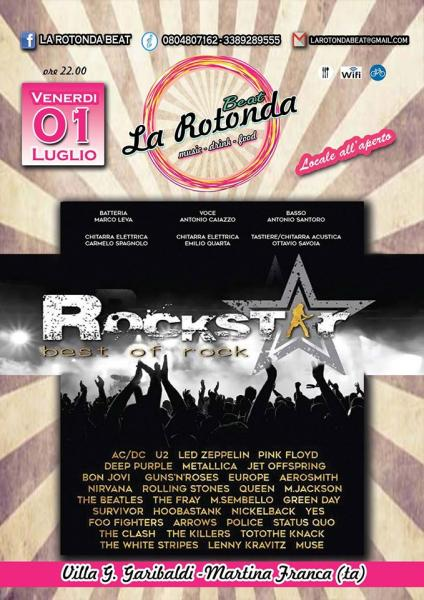 La Rotonda Beat Presenta:  Rockstar , Best of Rock