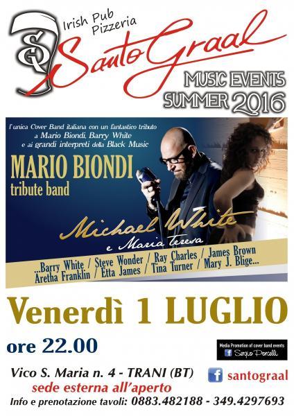 Michael White Mario Biondi Tribute & Omaggio Alle Voci Della Black Music Al Santo Graal