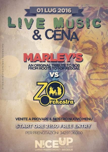 LIVE MUSIC & CENA - Marley's & Zoorchestra LIVE