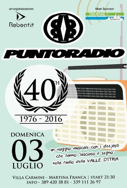 Dj set in piazza: 40 anni con Puntoradio