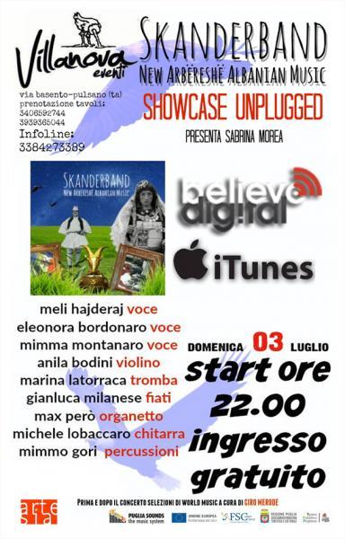 World Music - showcase di presentazione di SKANDERBAND, primo album dell'orchestra-laboratorio musicale multiculturale