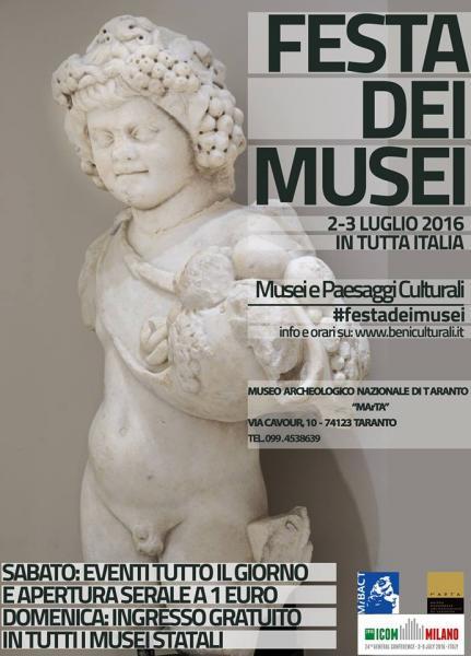 """FESTA DEI MUSEI """"Musei e Paesaggi Culturali"""""""