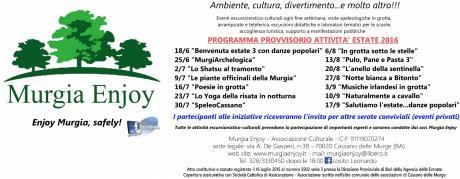 Eventi escursionistico-culturali Murgia Enjoy