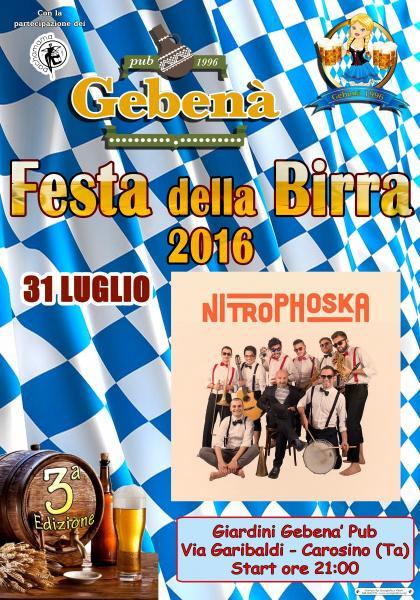 3^ Festa della Birra - Nitrophoska in concerto
