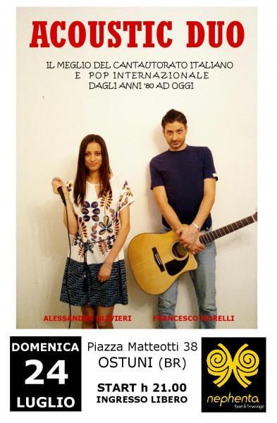 Acoustic Duo live al bar Nephenta