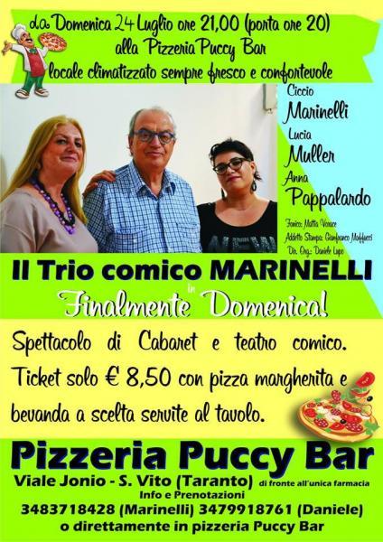 Taranto: Grande show di cabaret con Ciccio Marinelli