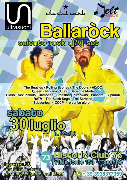 BALLAROCK Dj / Vj set + Psychocandy per un party rock al 100% al Club 73 Taranto
