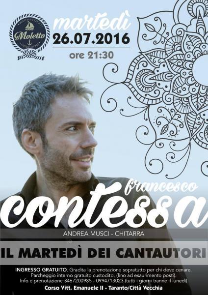 Il martedì dei cantautori al Moletto - Francesco Contessa