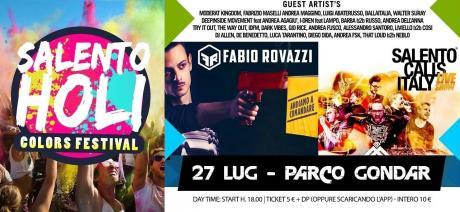 Salento Holi Colors con Fabio Rovazzi il 27 luglio al Parco Gondar!