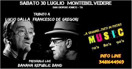 Tributo a Lucio Dalla - Francesco De Gregori e dj set