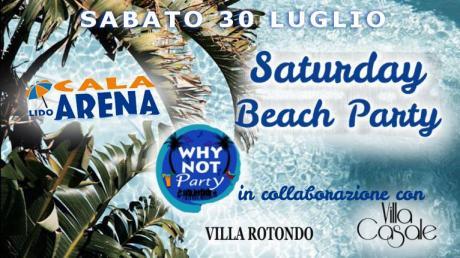 Saturday beach Party Lido Cala Arena Giovinazzo (Bari)