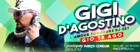 Gigi D'Agostino il 18 agosto a Gallipoli per Postepay Sound Parco Gondar