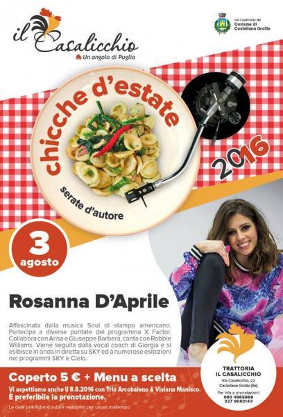 Rosanna D'Aprile live concert