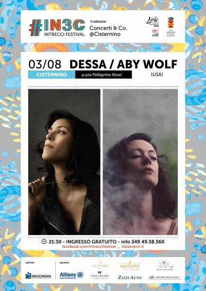 DESSA e ABY WOLF live concert a Cisternino