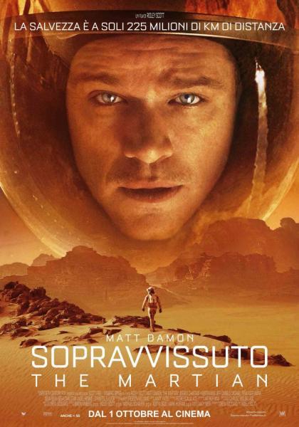 Cinema all'aperto sotto le stelle: SOPRAVVISSUTO - THE MARTIAN