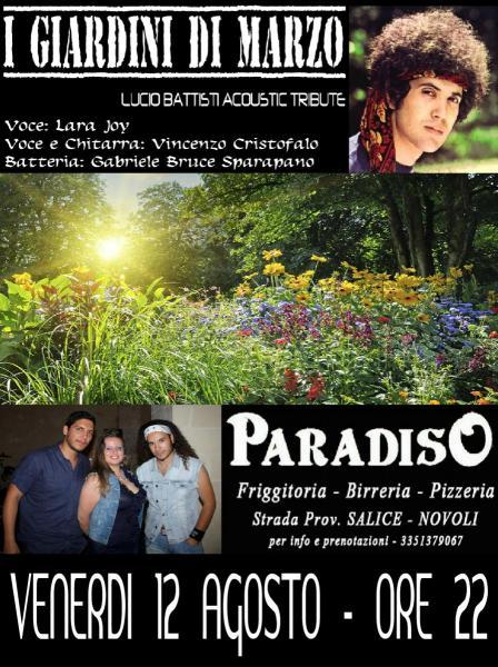 I giardini di marzo live at paradiso venerdi 12 agosto for I giardini di marzo