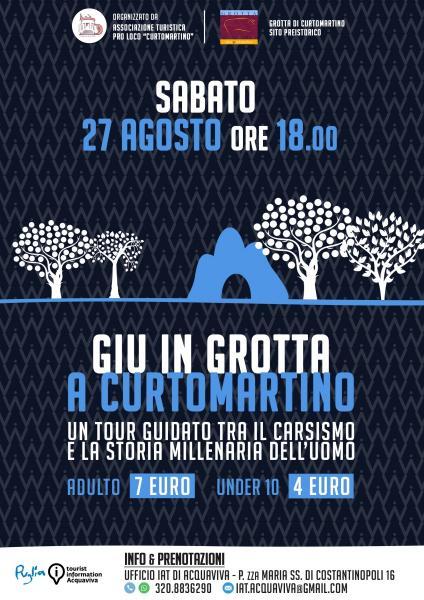 27 Agosto - Giù in Grotta a Curtomartino