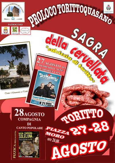 """Sagra Della"""" Cervellata"""" - Salsiccia Tipica di Toritto"""