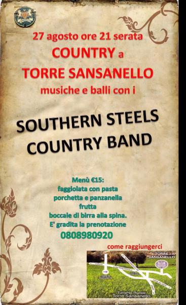 Serata Country con i Southern Steels Country Band