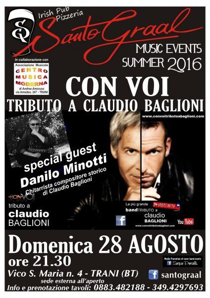 CON VOI' tributo a Claudio Baglioni & special guest Danilo Minotti al Santo Graal di Trani