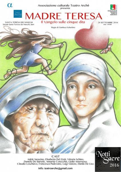 Madre Teresa, il Vangelo sulle cinque dita